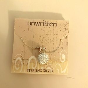 Sterling silver necklace with ball charm